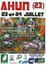Championnat de France sidecarcross inter et motocross MX2
